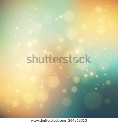 Vector  illustration Abstract holiday light background with bokeh - stock vector