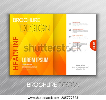 Vector illustration Abstract template brochure design with geometric background - stock vector