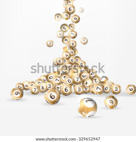 Vector illustration background lottery balls. - stock vector