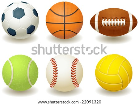 Vector illustration - Balls for team sports - stock vector