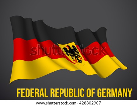 vector illustration banner with Federal Republic Of Germany flag, Germany flag, Germany flag, Germany flag, Germany flag, Germany flag, Germany flag, Germany flag, Germany flag, Germany flag, Germany - stock vector