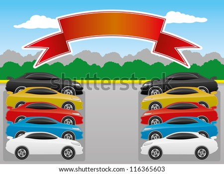 Vector illustration. Cars. - stock vector