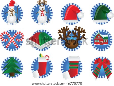 Vector illustration - christmas icon - stock vector