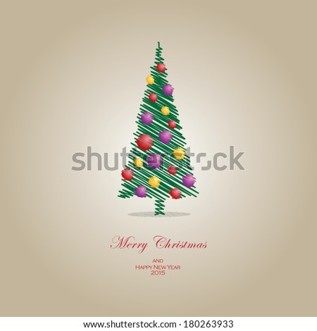 Vector illustration Christmas tree concept. File extension is EPS10 format. - stock vector