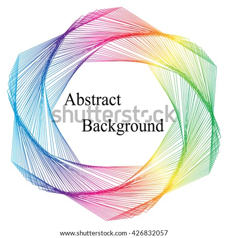 Vector Illustration.Colorful Template for Visiting Cards, Labels, Fliers, Banners, Badges, Posters, Stickers and Advertising Actions. Stripes Twisted in Vortex. Abstract Background - stock vector