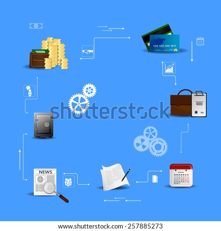 Vector Illustration concepts control payment, financial analytics, online banking - stock vector