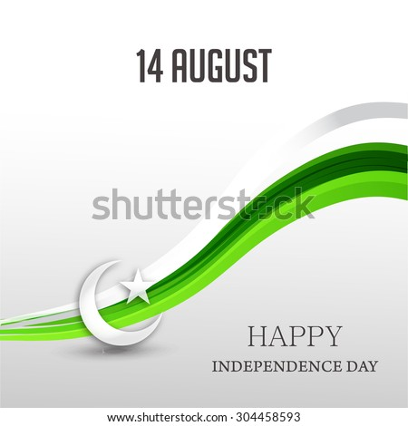 vector illustration Creative a beautiful background for Independence Day. - stock vector
