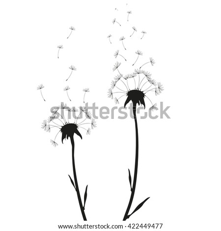 Vector illustration Dandelion time.  - stock vector