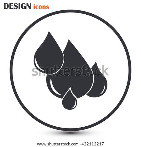 Vector illustration drops - stock vector