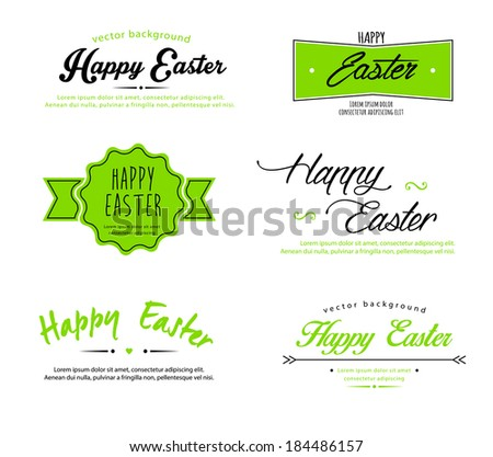 Vector illustration (eps 10) of Easter designs - stock vector
