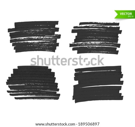 Vector illustration (eps 10) of Marker banners - stock vector