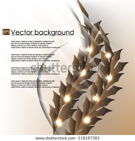 Vector illustration floral swirl  background design eps10 - stock vector