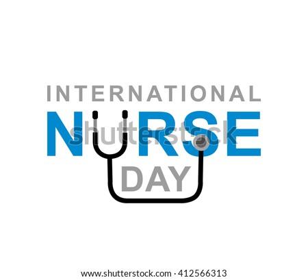 Vector illustration for International Nurse Day. Vector illustration for Nurse Day. Poster Nurse Day - stock vector