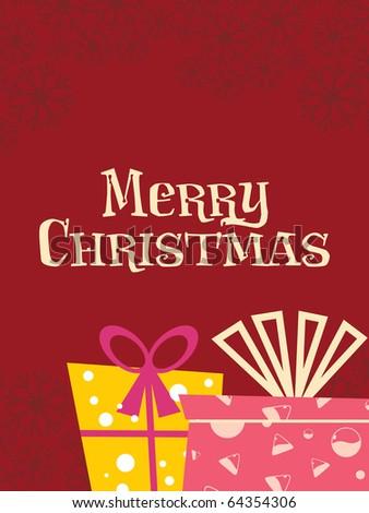 vector illustration for merry christmas celebration - stock vector