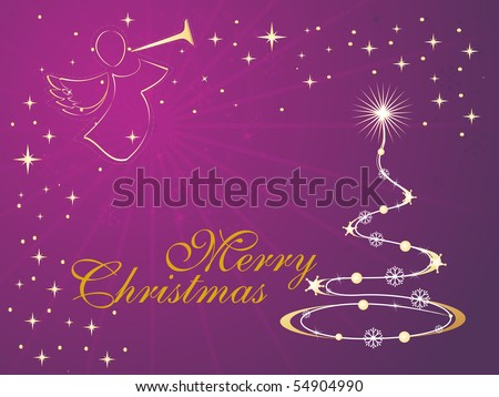 vector illustration for merry xmas day - stock vector