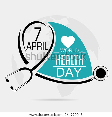 Vector illustration for World Health Day in gray background.  - stock vector