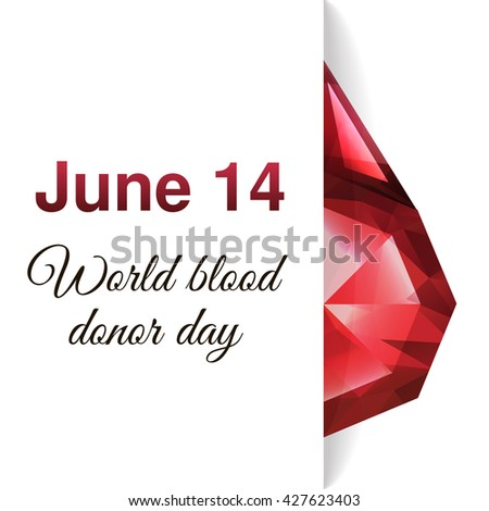 Vector illustration for your design. World blood donor day-June 14th. - stock vector