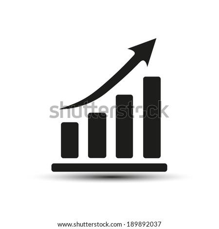 Vector illustration icon growth diagram - stock vector