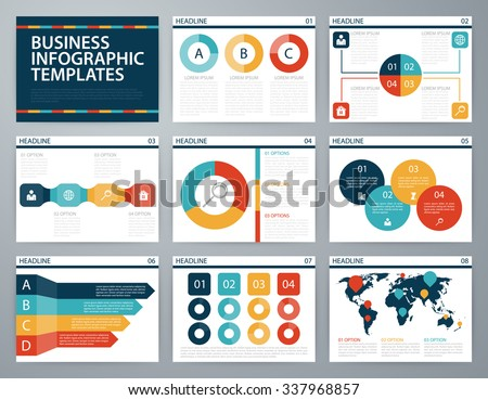 Vector illustration infographics . Flat design set for advertising brochure flyer and magazine. - stock vector