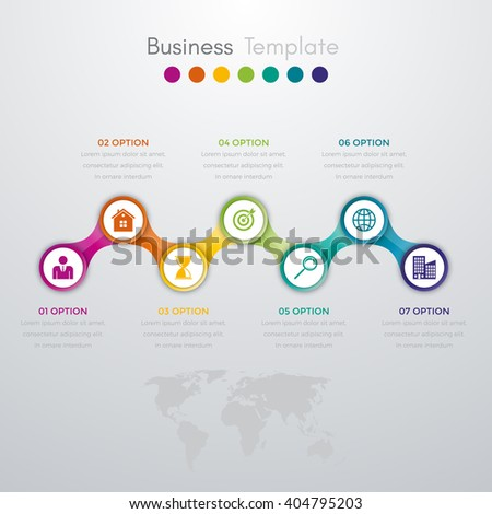 Vector illustration infographics. Template for brochure, business, web design - stock vector