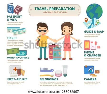 Vector. Illustration. Information for travelers. - stock vector