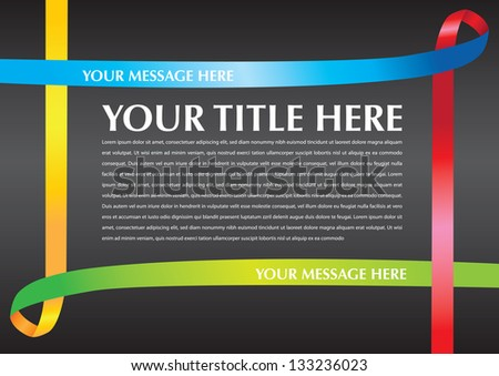 Vector illustration. Layout border of Awareness ribbons. - stock vector