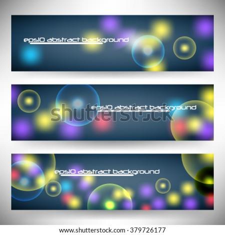 Vector illustration lights background header banner - eps10 - stock vector