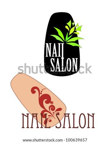 Vector illustration: nail - stock vector