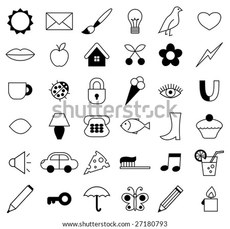 Vector illustration. Nice icon set. - stock vector