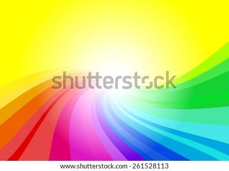 vector illustration of a abstract rainbow colored background  - stock vector