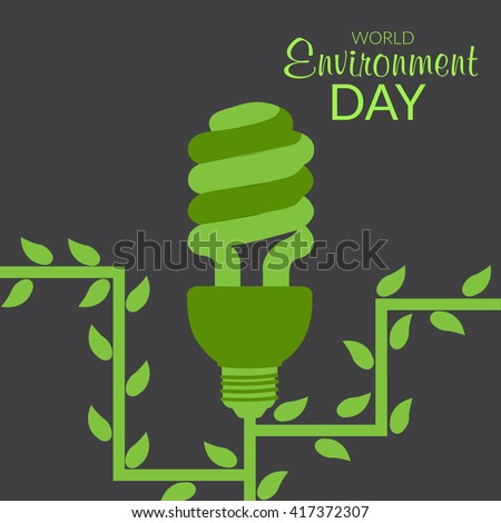 Vector illustration of a background for World Environment Day. - stock vector