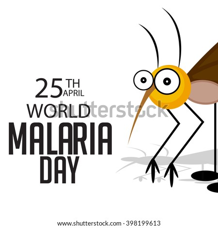Vector illustration of a background for World Malaria Day.  - stock vector