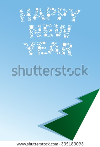 Vector illustration of a blank list with a newyear congratulation. - stock vector