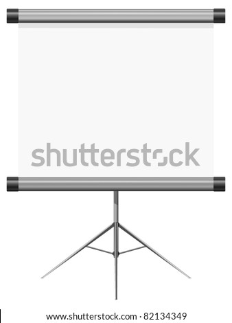 vector illustration of a blank presentation - stock vector
