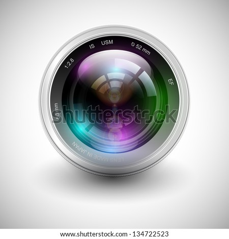 Vector illustration of a camera icon - stock vector
