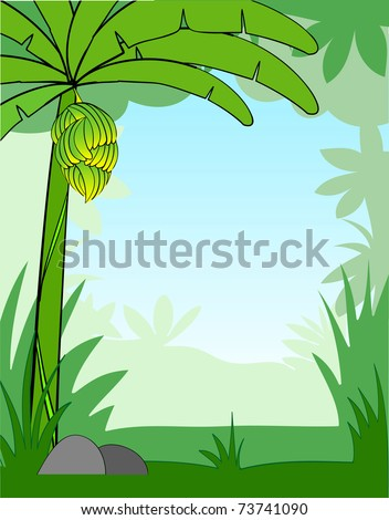 vector illustration of a cartoon background - stock vector