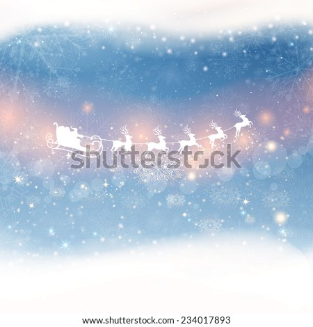 Vector Illustration of a Christmas Background - stock vector