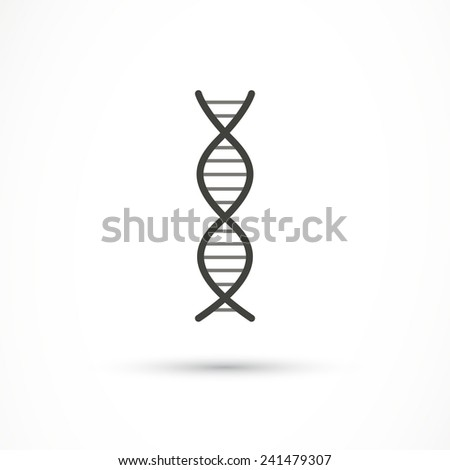 Vector Illustration of a DNA Icon - stock vector