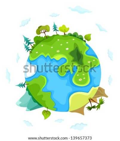 vector illustration of a earth - stock vector