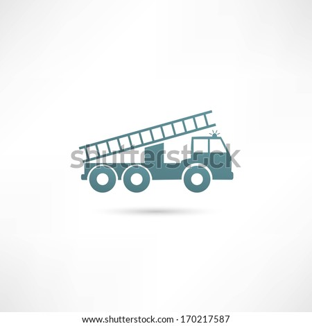 Vector illustration of a fire engine - stock vector