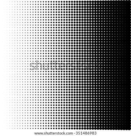 Vector illustration of a halftone pattern. - stock vector