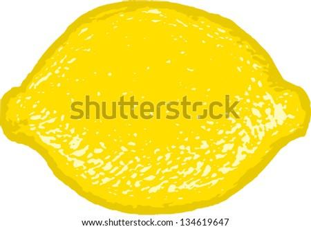Vector illustration of a lemon or lime - stock vector