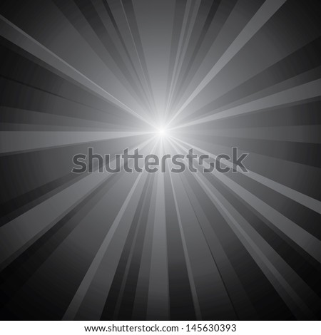 Vector illustration of a light burst background. - stock vector