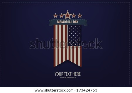 Vector Illustration of a Memorial Day Design - stock vector