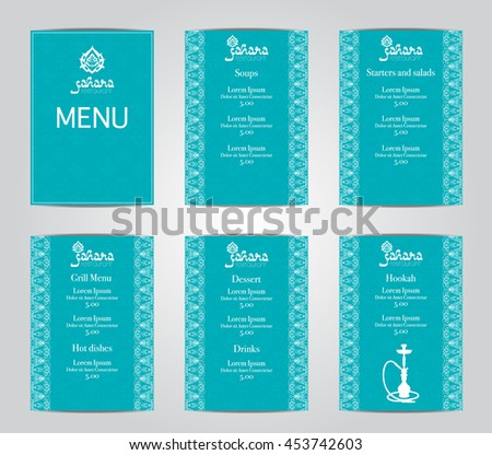Lebanese cuisine stock vectors vector clip art for Arabic cuisine menu