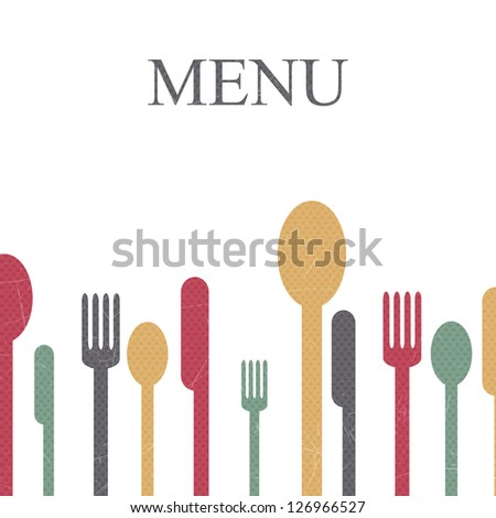 Vector Illustration of a Menu Template - stock vector