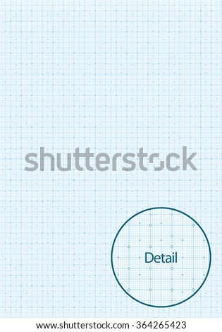 Vector illustration of a millimetre grid paper. Can be easily colored and used in your design. - stock vector