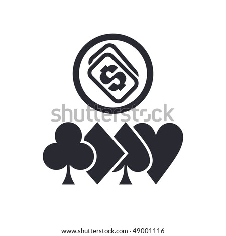 """Vector illustration of a """"money"""", """"pay"""" or """"buy"""" icon in modern style depicting a poker money - stock vector"""