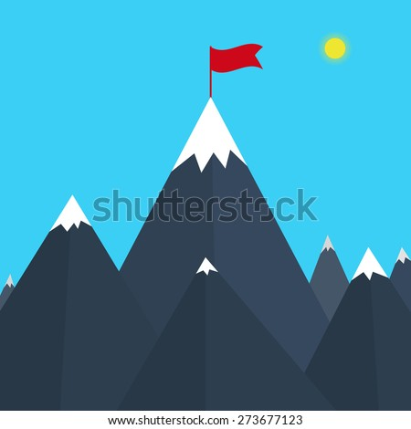 Vector illustration of a mountain. - stock vector