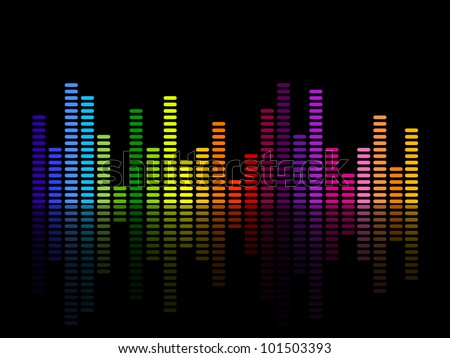 Vector illustration of a music equalizer - stock vector